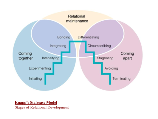 knapps five stages of development Knapp's relationship model - coming apart yesterday we looked at coming together today we continue to examine the five stages of coming differentiating, interpersonal relationships, knapp's relational model, stagnating, terminating no comments post a comment or.