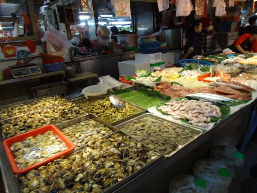 All kinds of seafood