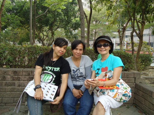 Sharing the gospel with two Indonesian caregivers