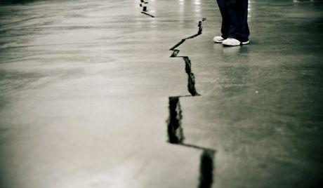Crack in ground