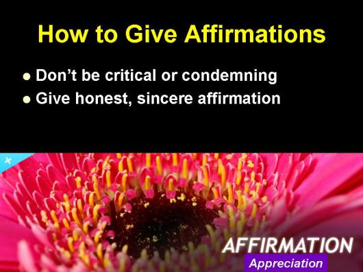 Principles of affirmation