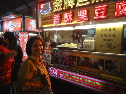 Stinky tofu, but we like the HK kind more than the Taiwanese variety