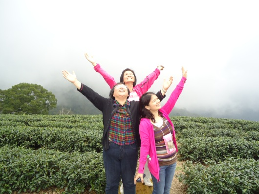 Claiming Taiwan for Christ on top of Alishan.