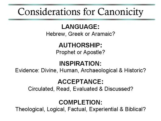 Tests of Canonicity