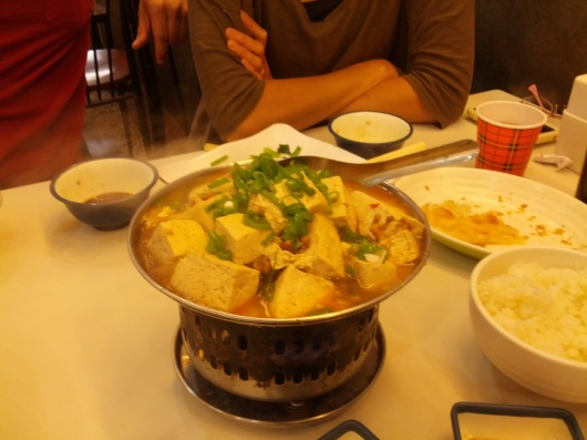 Unlike the deep-fried stinky tofu in Hong Kong, this is cooked in hot-pot.