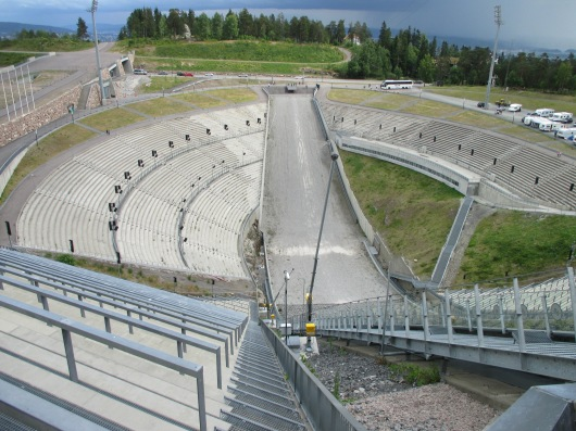 Holmenkollen ski jump used in 1952 Winter Olympics.