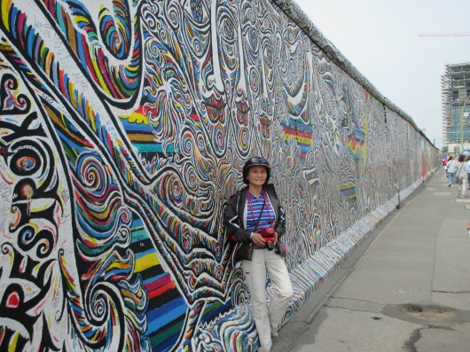 Part of what remained of the Berlin Wall.
