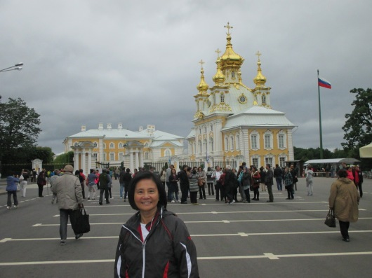 Peterhof Palace, or the Russian Versailles. Too bad no photos or videos allowed inside.