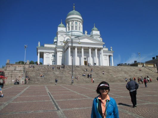 Senate Square, with Helsinki Cathedral (Lutheran) in background.