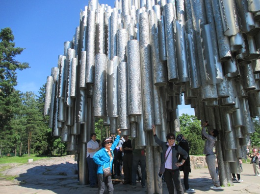 Sibelius Monument. His music shaped Finland's national identity.