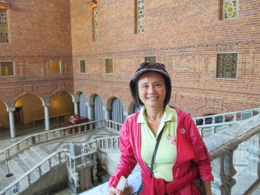 Blue Hall (dining hall) on ground floor of Stockholm City Hall, where the Nobel Prizes are given out each year (except the Peace Prize which is given out in Oslo).