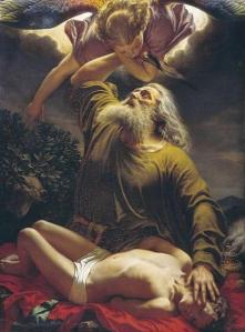 Abraham offering Isaac