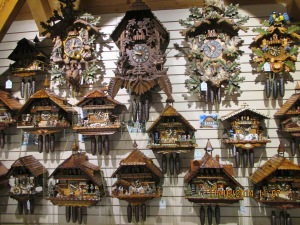 Black Forest is famous for cuckoo clocks ...