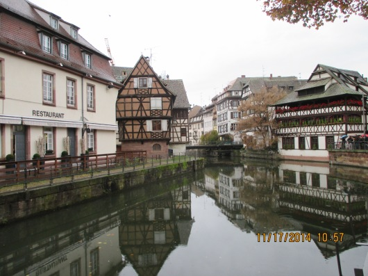 Petite France with canals and half-timbered houses.