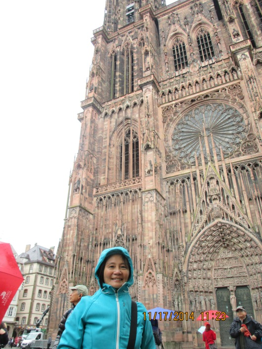 Strasbourg Cathedral, with very nicely preserved Gothic architecture.