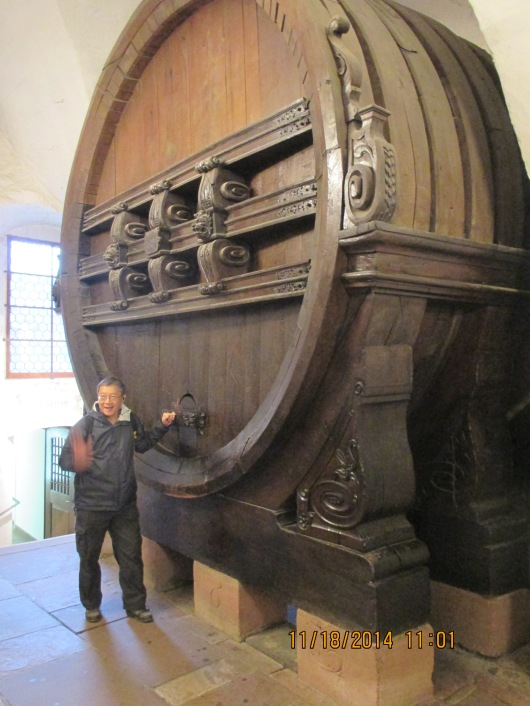 One of the world's largest wooden wine barrels.