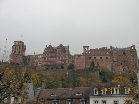 Looking up to the castle from the town.