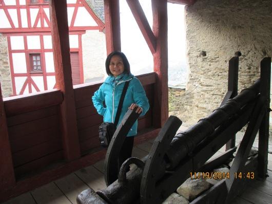 Cannon guarding the castle.