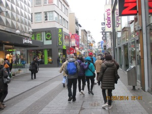 Cologne's traffic-free shopping district.