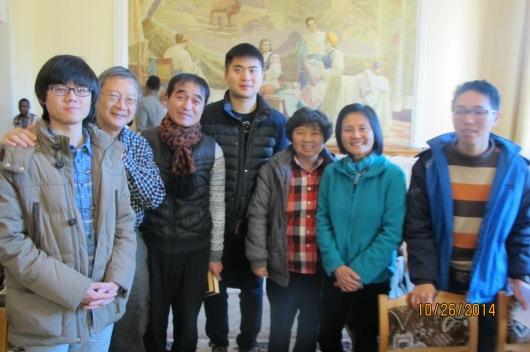 Friends at international Christian fellowship.