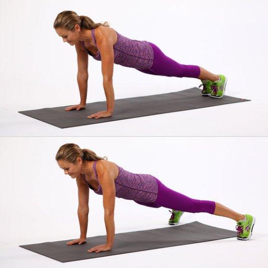 Full arm plank jacks