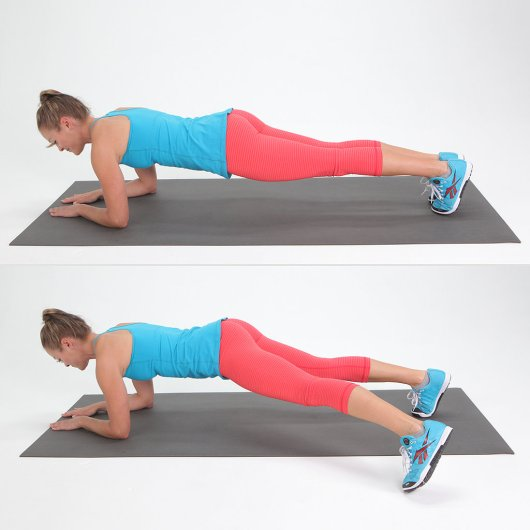 Fore arm plank jacks