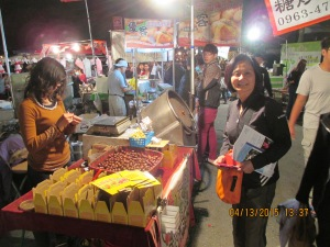 Stirred fried chestnuts