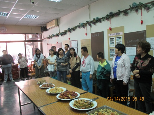 Sharing Grace Meal at old building of Double Blessing Lutheran Church, our mission partner.