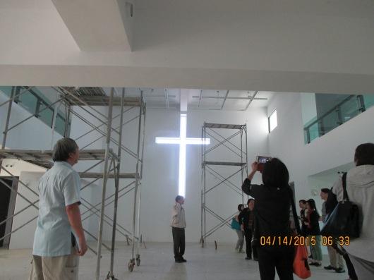 Sanctuary of new church, still under construction.
