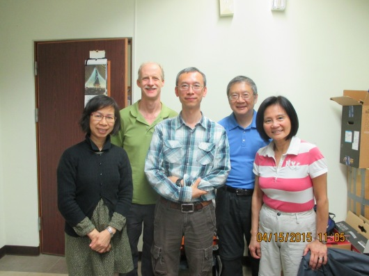 Visiting an Associate Professor at National Chung Cheng University. Besides supervising grad students, he teaches an interesting course on Jewish Customs and Life Sciences based on the OT.