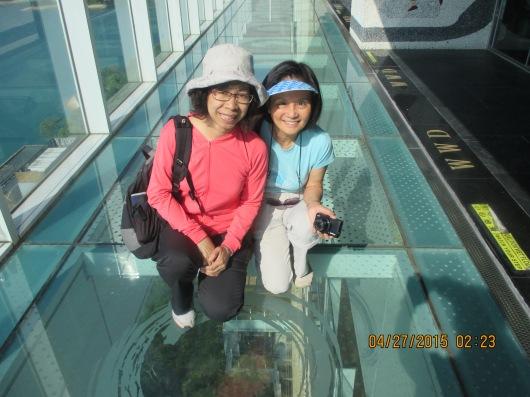 Glass bottom observatory deck of Wen Wan Resort