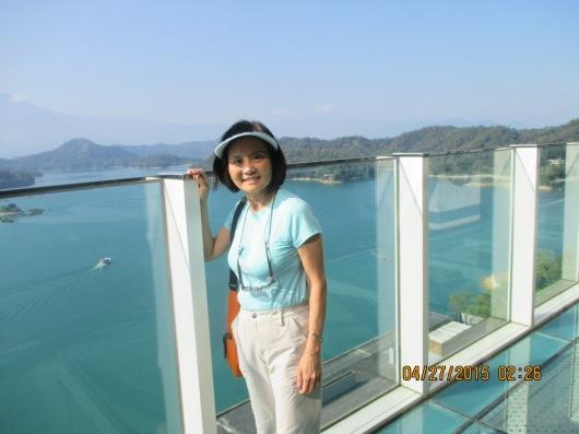 Observatory deck of Wen Wan Resort, overlooking Sun Moon Lake
