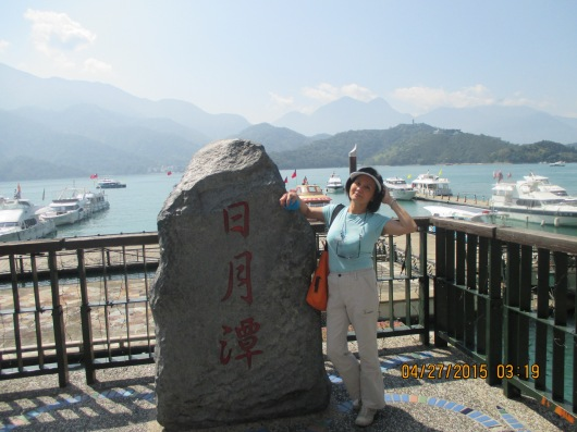 A ferry took us from Shuishe Pier to 2 scenic points Xuanzang Temple and Ita Thao across the lake.