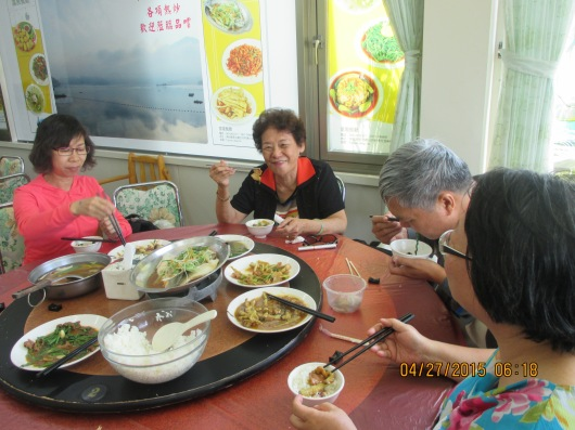7 course meal, all local game, fish and vegetables for NT$1,500 (C$60). 7 people can hardly finish.