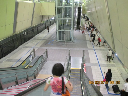 Subway stations are generally bigger compared to Toronto or Hong Kong, but with very few ads.