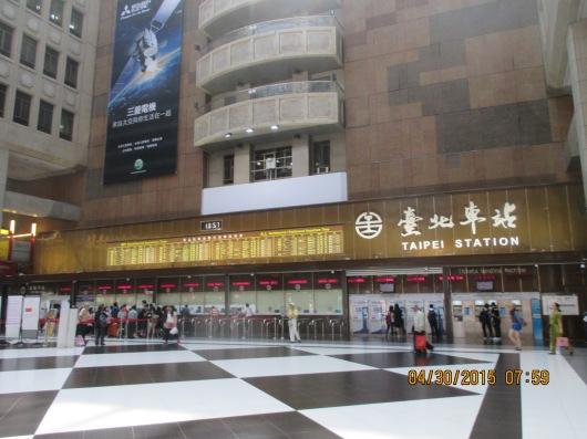 Taipei Station is the hub, like Toronto's Union Station