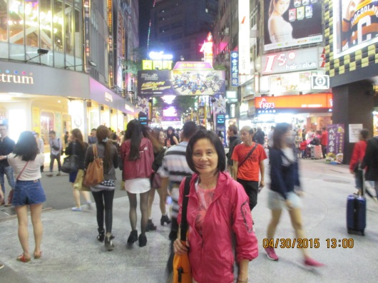 Ximending, a hangout for young people and shopping district