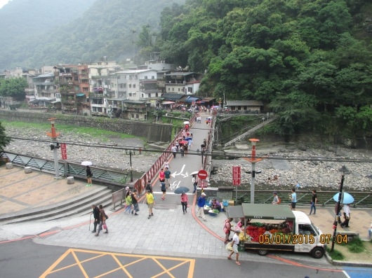 View of Wulai Village from train station