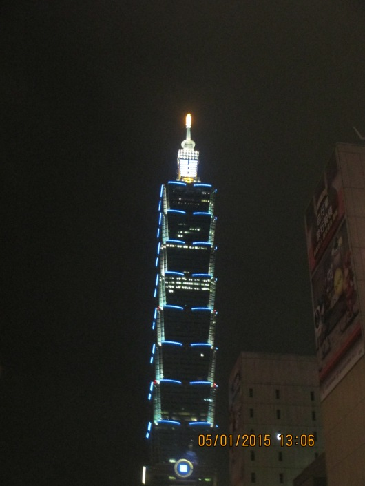 Taipei 101, the tallest building in Taiwan.